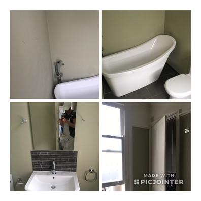 Lovely bathroom painted with Farrow & Ball