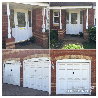 Another external repair and paint wooden doors and garage surrounds