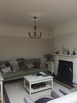 """Painted walls in """"School House White"""" & ceiling and Wood in """"Wimbourne White"""" lovely!"""