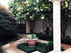 Garden Pathway with Iron Gate