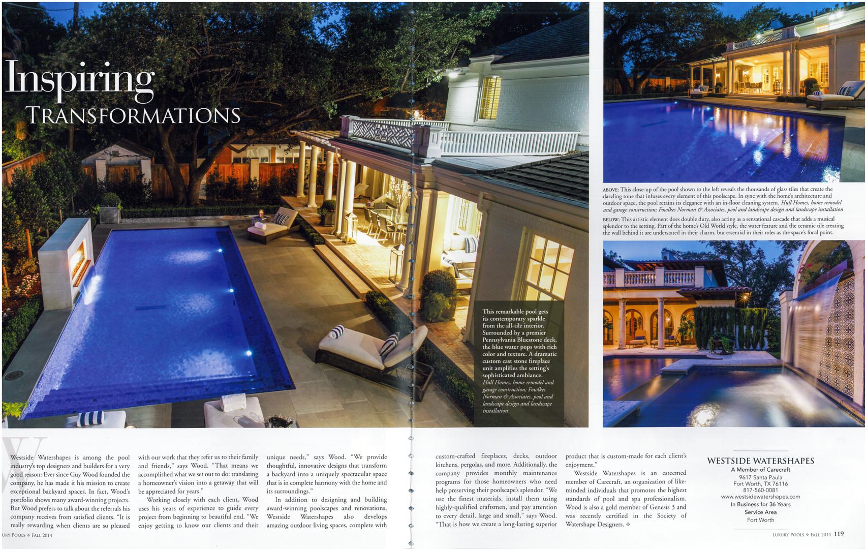 Luxury Pools - Fall 2014