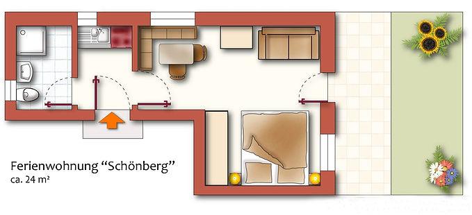 Ferienwohnung Schönberg Grundriss