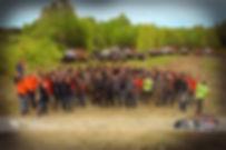 Les bénévoles de  l'xtreme 4x4 thetford