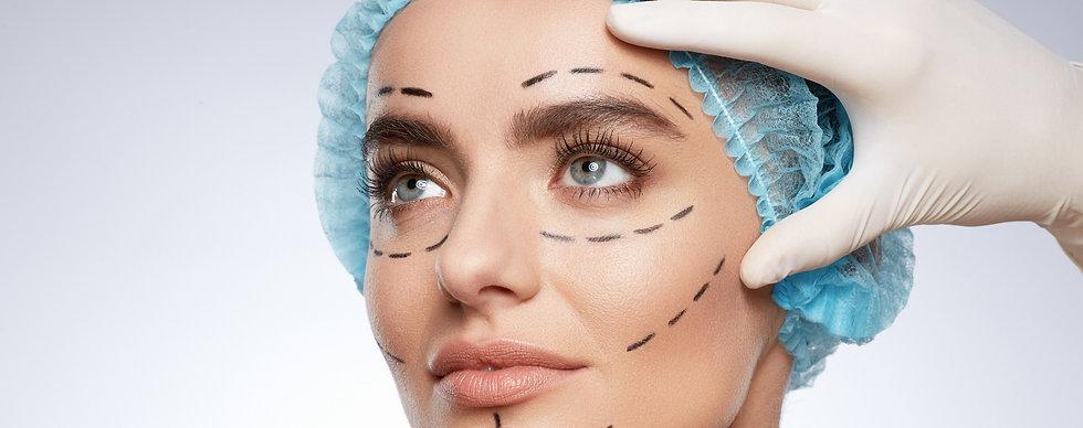 gezicht chirurgie tekenlijnen PCG