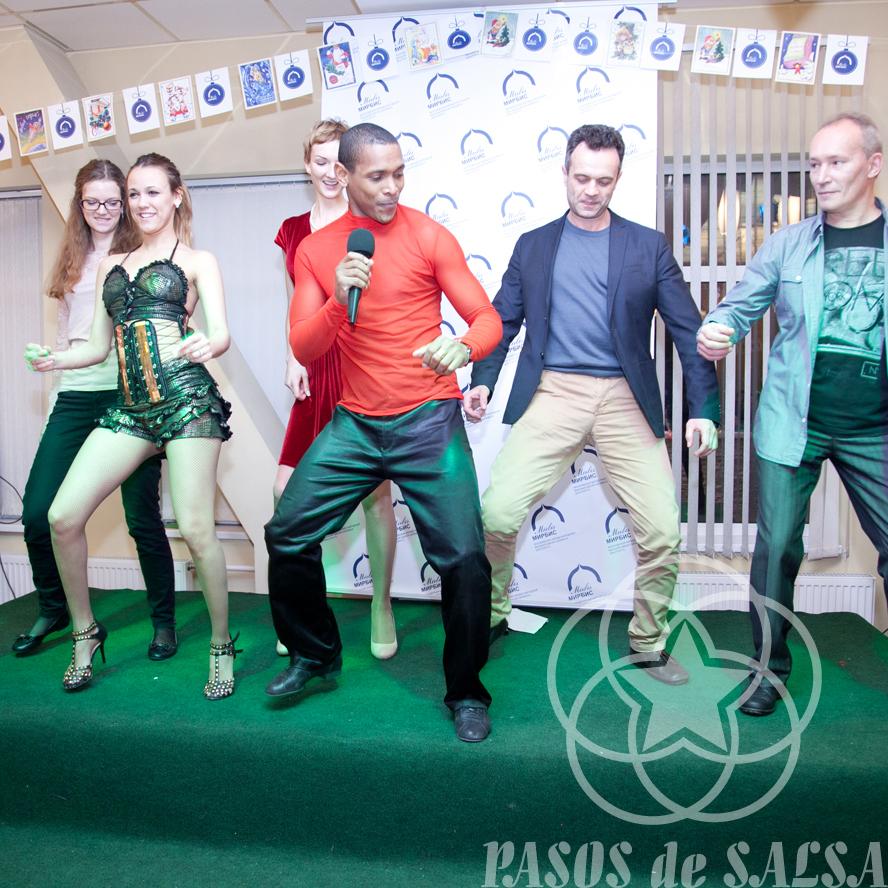 Танцевальный мастер-класс на празднике компании