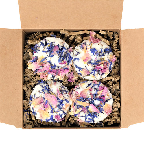 Box of 4 Rose Garden Bath Truffles