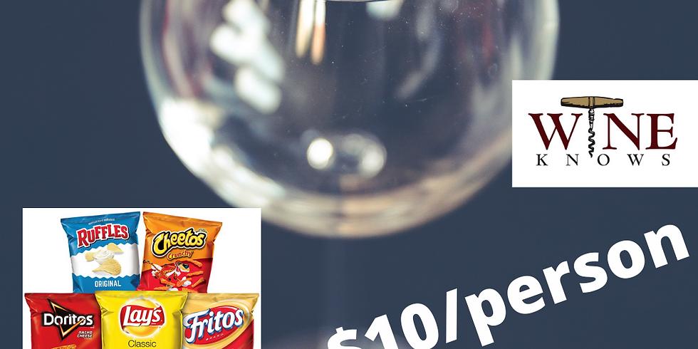 Virtual Wine Tasting November 12-  Chips Pairing wiht White & Red Blends