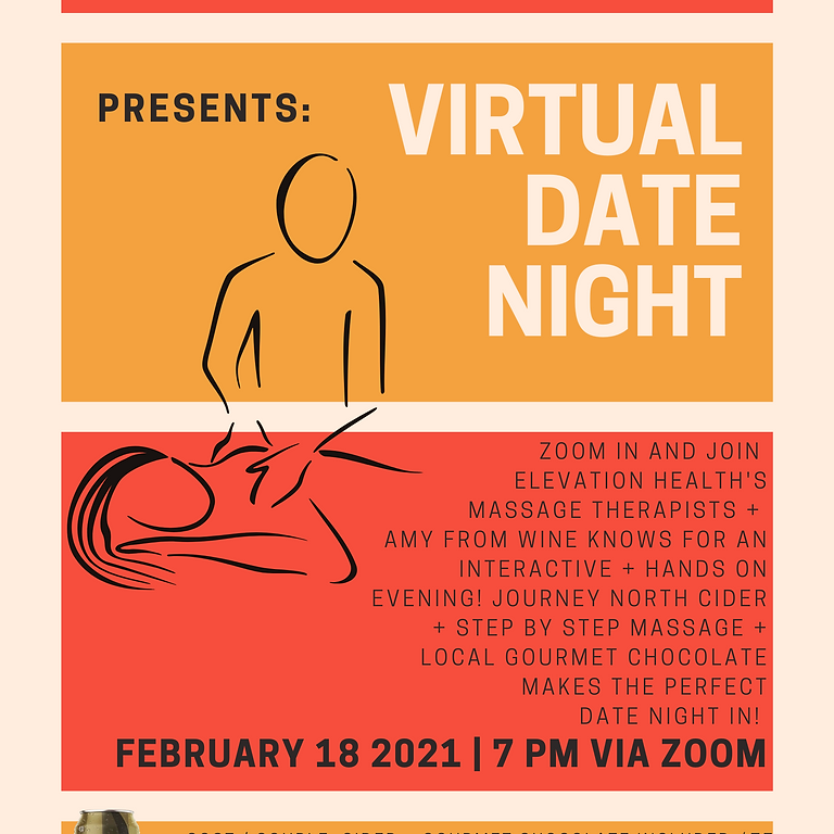 Virtual Date Night- Featuring Elevation Health-NO food or beverage