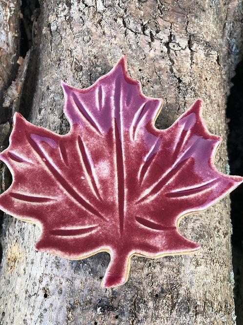 Ceramic Maple Leaf Dish