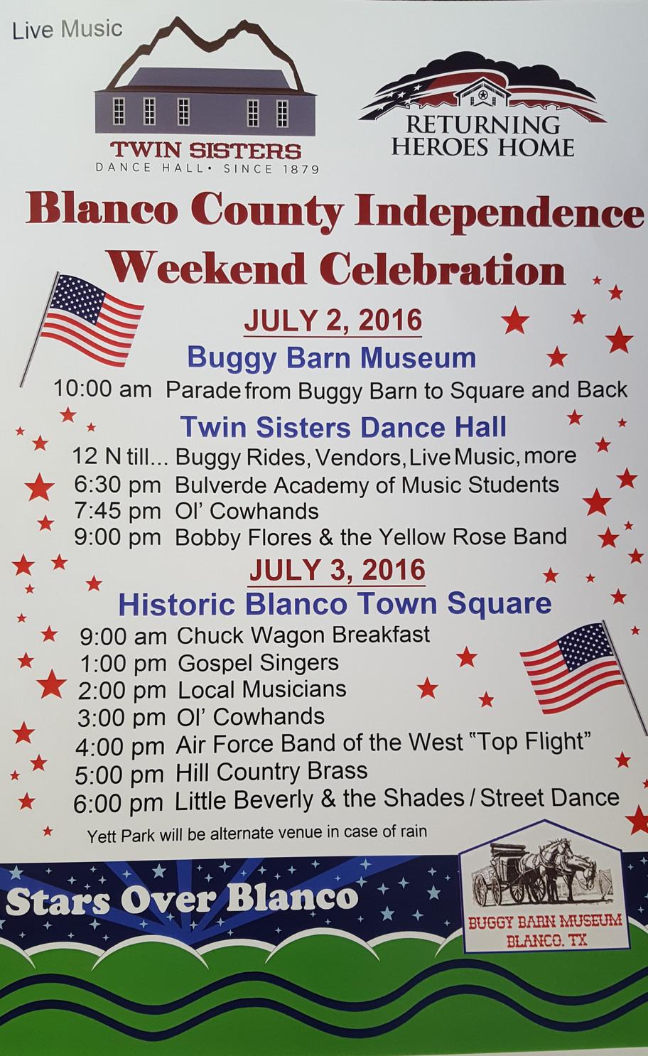 Blanco County Independence Weekend Celebration