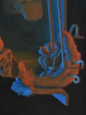 Dhollarig, (detail 2) 2018, Oil on linen