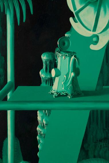 Grotl,2020, Oil on linen, 180x140cm deta