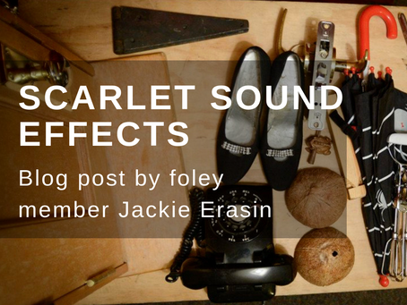 The sound effects behind a staged radio play - a blog post