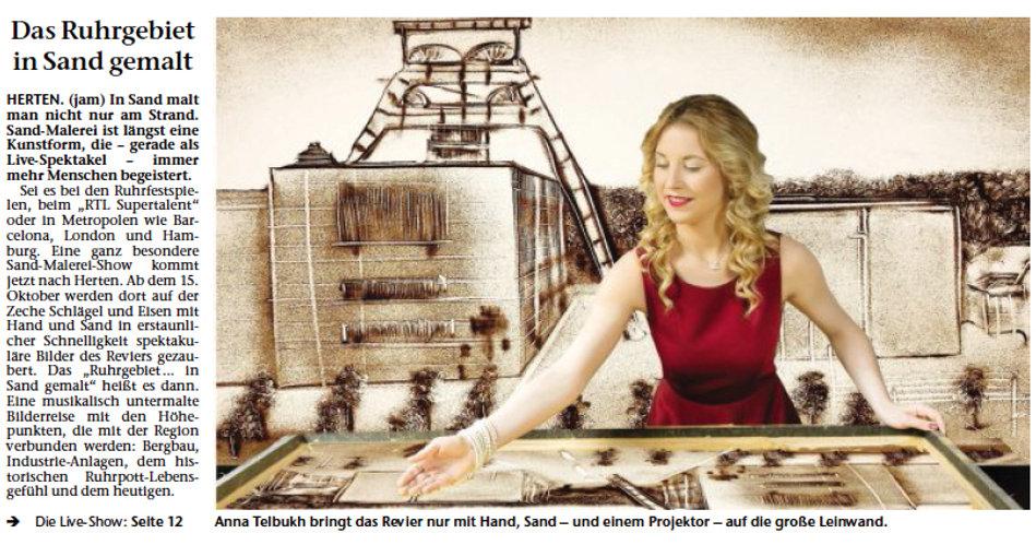Die Geschichte des Ruhrpotts in Sand gemalt