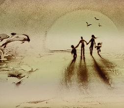 Sand Malerei Show Helgoland