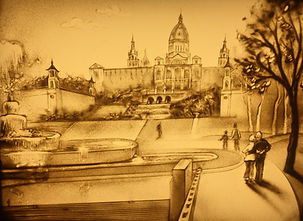 Sand Malerei Show Barcelona