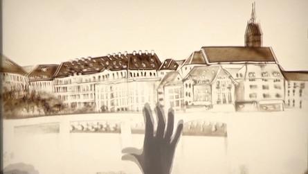 Die Schweiz in Sand gemalt