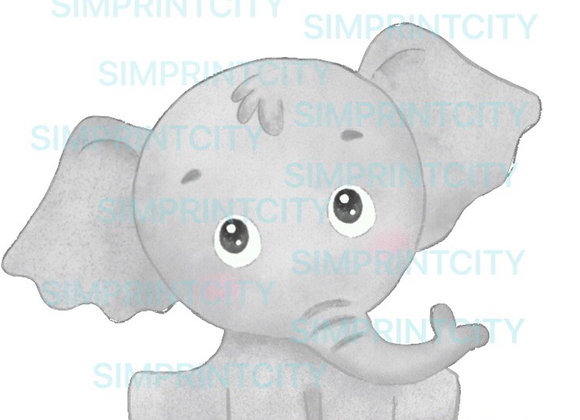 Sitting Baby Elephant Cookie Cutter
