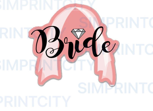 Bride with   Veil Cookie Cutter