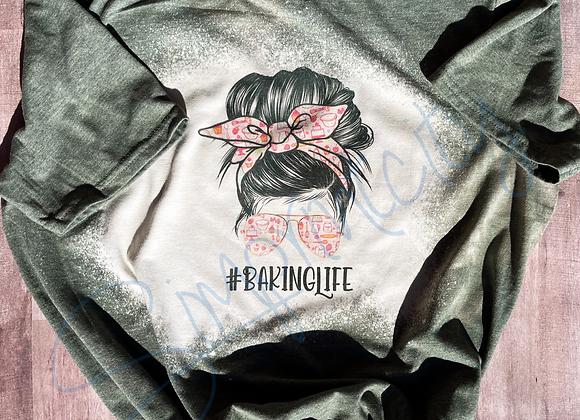 #BakingLife Bleached Shirt