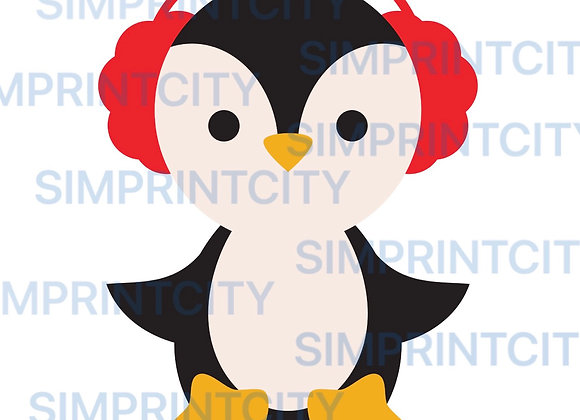 Penguin with Ear Muffs Cookie Cutter