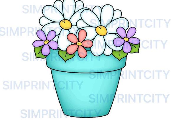 Flower Pot Cookie Cutter