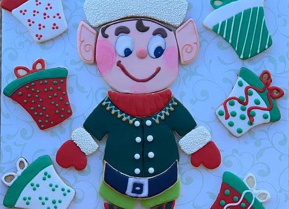 Elf Cookie Cutter Platter
