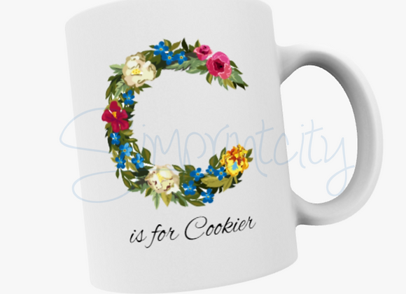 C is for Cookier Coofee cup/mug