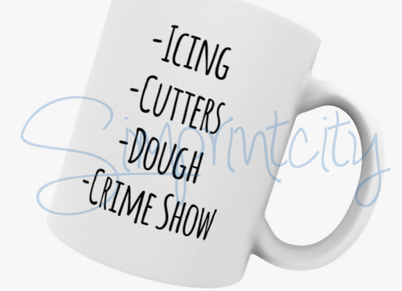 Icing, Cutter, Dough, Crime Show