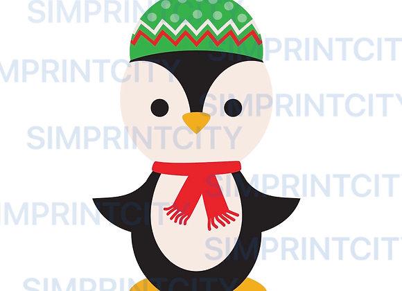 Penguin in Knitter Cap Cookie Cutter