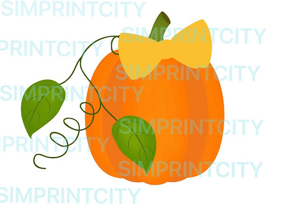 Pumpkin with Bow Cookie Cutter