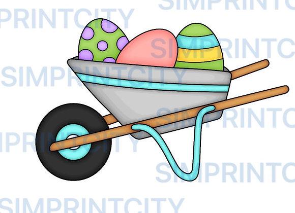 Wheelbarrow with Eggs Cookie Cutter