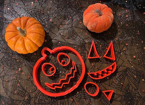 Custom Jack O'Lantern Cookie Cutter Set