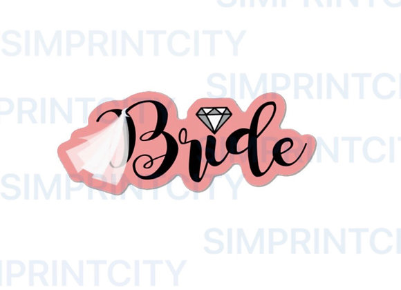 Bride Word with Diamond Cookie Cutter