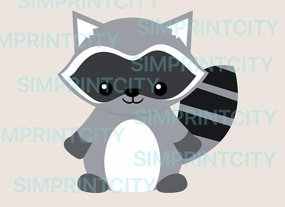 Woodland Raccoon Cookie Cutter