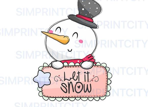 Snowman Cookie Cutter Plaque
