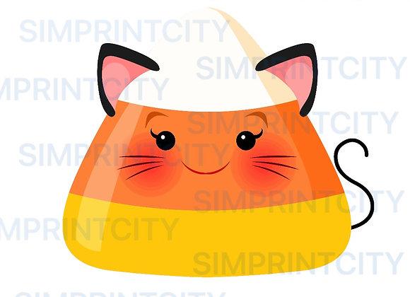 Candy Corn Cat Cookie Cutter