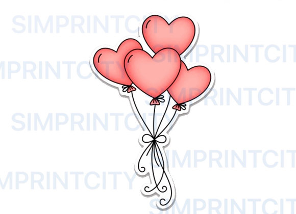 Heart Balloon Bouquet Cookie Cutter