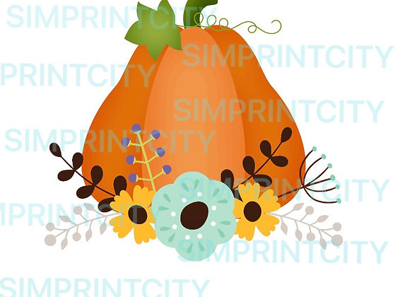 Pumpkin with Flowers #1 Cookie Cutter