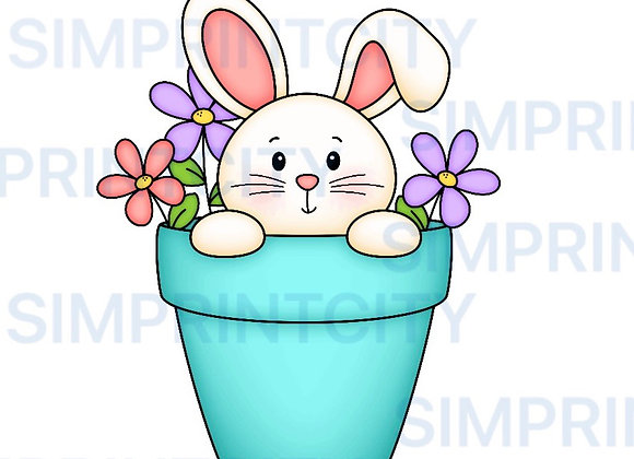 Bunny in Flower Pot Cookie Cutter