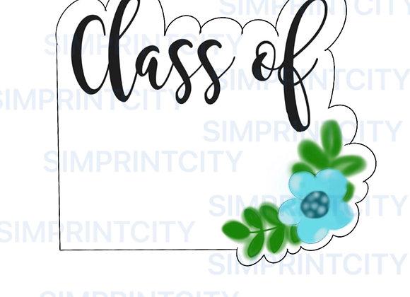 Class of ... Graduation Flower Plaque