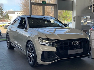 Audi Q8 60 TFSIe hybride rechargeable 462ch Beige Vicuna