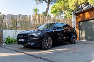 Audi Q8 60 TFSIe hybride rechargeable 462ch Brun Barrique DISPO