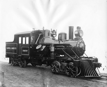 a steam engine from the Campbell Lumber Co.