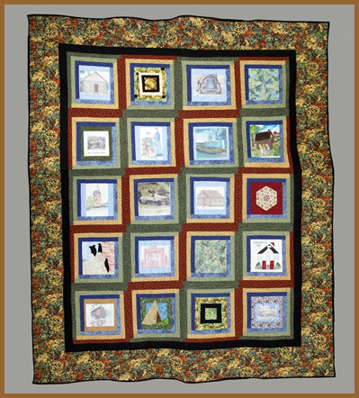 centennial quilt by Society volunteers