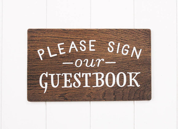 Wood Sign our Guest Book Sign