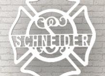Firehouse Cross Wall Art