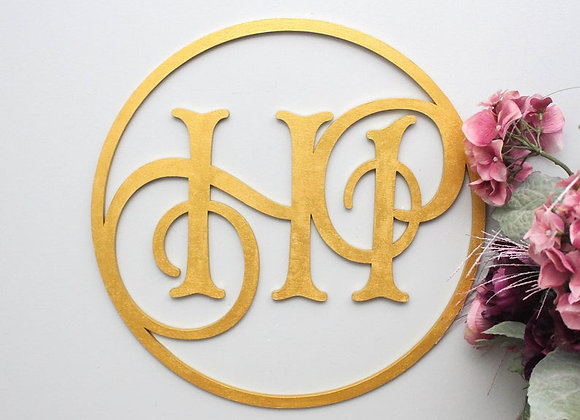 Wedding Letter Circle Sign