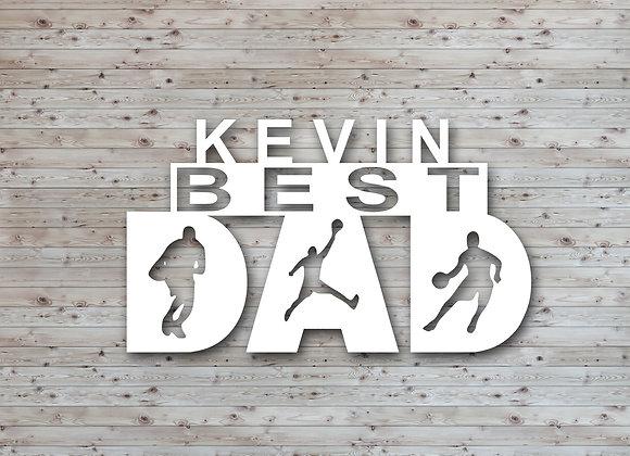 Dad Basketball Wall Art