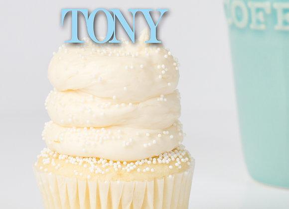 Tony Cupcake Topper